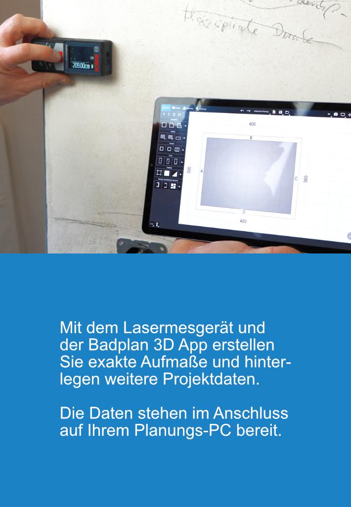 Badplan3D APP für digitales Aufmaß